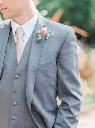 Groom Light Grey Suit Springtime Groom Attire Light Grey Suit Pastel Pink Tie