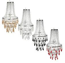 image is loading acrylic crystal droplet chandelier lamp shade ceiling pendant