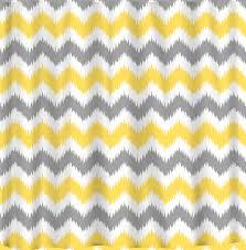 chevron yellow white grey standard curtain lengths