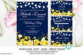 Easy Invitation Templates Invitation Template Blue And Yellow Invitation Templates