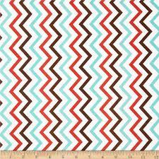Michael Miller Mini Chic Chevron Coral - Discount Designer Fabric -  Fabric.com