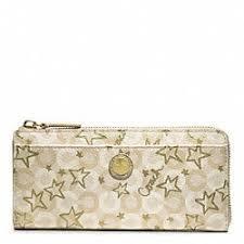 Coach Waverly SnowQueen SlimZip Wallet