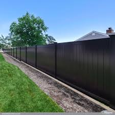 Vinyl Privacy Fence Ideas Black Pvc Low Maintenance Inside Decorating
