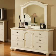 Beautiful White Dresser Bedroom With Mirror