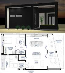 Marvelous Small House Plans Single Person : Modern Courtyard House Plan  Custom Contemporary Style Plans With