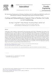 Cooling And Dehumidification Capacity Chart Of Surface Air