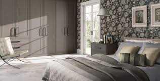 wardrobe for bedroom. fitted bedroom wardrobe doors in a stylish matt stone grey shaker style for