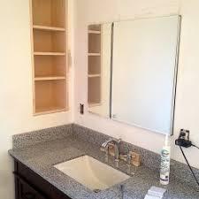 built in bathroom medicine cabinets. Finished Bathroom Remodel In Arlington, MA. Vanity, Recessed Medicine Cabinet, And Custom Built Cabinets N