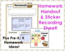 Preschool Owl Homework Handout Ideas Sticker Recording Sheet