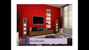Red Living Room Best Red Living Rooms Interior Design Ideas Youtube