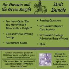 sir gawain s report card worksheets students and school sir gawain and the green knight bundle high school english teacherspayteachers