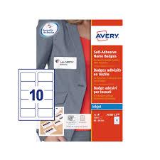 How To Print Avery Name Badges Avery Self Adhesive Name Badges