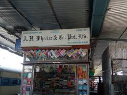 Image result for book stall at an indian railway station