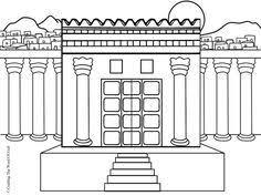 Small Picture Solomons Temple Coloring Page DCC Kindergarten Pinterest