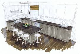 interior design kitchen drawings. Beautiful Interior In Interior Design Kitchen Drawings