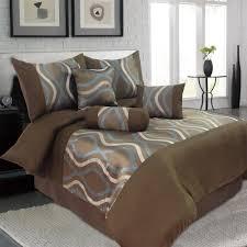 Lavish Home Galina 7-Piece Brown Queen Comforter Set