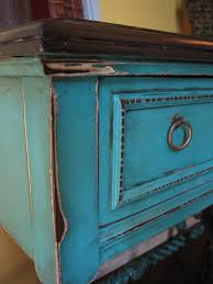 distressed turquoise furniture. European Paint Finishes Turquoise Accent Table Throughout Distressed Furniture