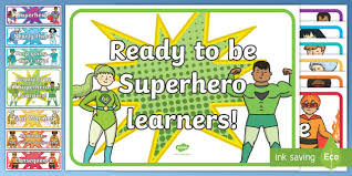 Chart Display Superhero Behaviour Chart Display Cut Outs Australia