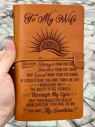leather journal to wife