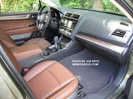 subaru outback interior 2016. Exellent Subaru 2017 Subaru Outback Touring Interior Java Brown Perforated Leather Trimmed On Interior 2016