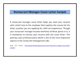 Bunch Ideas Of Cover Letter Restaurant Manager Manager Cover Letters