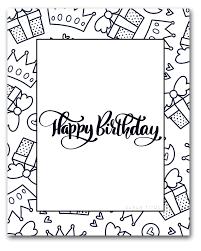 Free Printable Happy Birthday Coloring Sheets Sarah Titus