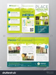 real estate brochure flyer design vector stock vector  real estate brochure flyer design vector template in a4 size tri fold