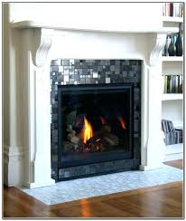glass tile fireplace surround mantels gas