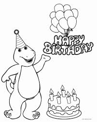 Small Picture Barney Happy Birthday Coloring Pages Printable Coloring Sheets