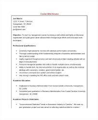 Objective For Mba Resume Samples Sample Freshers Finance Hr Career