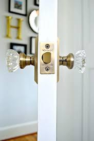 glass door knobs on doors. Updating Old Doors With New Glass Door Knobs Throughout For Bathrooms On