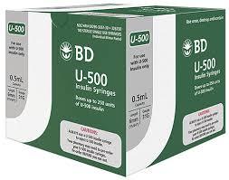 Bd U 500 Insulin Syringe With Bd Ultra Fine 6mm Needle Bd