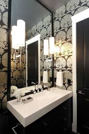 View In Gallery Art Deco Wallpaper For The Bathroom  R