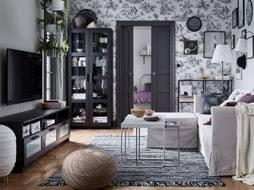 modern room furniture. IKEA BRIMNES Black Tv Bench And Shelving Storage Cabinets Create A Sleek  Modern Living Room Look Furniture