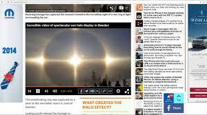 Light Around The Sun Stunned Skiers Capture Amazing Ring Of Light Around The Sun