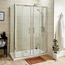 primrose 6mm double sliding shower door optional side panel