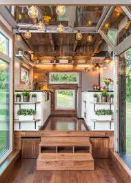 A Custom Tiny Home With Folddown Deck And Sliding Glass Door - Tiny houses interior