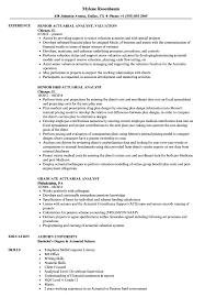 Actuary Resume Analyst Actuarial Resume Samples Velvet Jobs 36