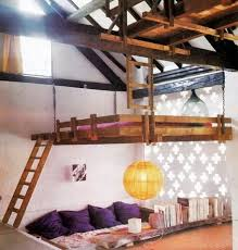 unique bunk beds. Unique Loft Bed In Kids Bedroom Design Ideas. Suspended Grey Wall Painting White Cubby Hole Bunks For Three Bunk Beds