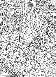 Kleurplaat In Doodle Abstracte Stijl Vector Kunst Voor Volwassen