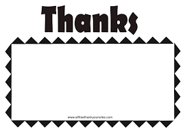 Blank Thank You Notes All Free Black And White Thank You Notes 115404 Png