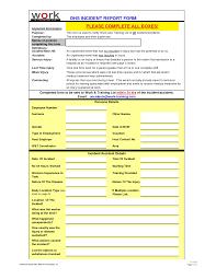 Medical Office Incident Report Form Under Fontanacountryinn Com