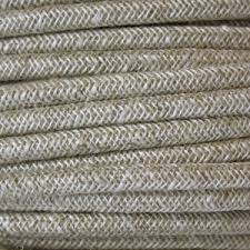 fabric lighting cable 3 core. Cloth Covered Wire. Braided Fabric Lighting Cable In A Rough Spun Finish. Round 3 Core C
