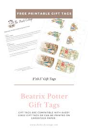 that brings us to the free set of beatrix potter s peter rabbit printable gift s that i m making available today again these gift s are available