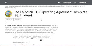 template for llc operating agreement agreement llc operating agreement template