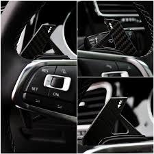 Real Carbon Fiber Steering Wheel Dsg Paddle Extension Fit Vw Mk7 ...