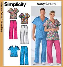 Scrub Patterns Extraordinary Simplicity 48 Scrub Top And Pants