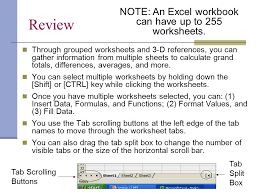 CTS130 Spreadsheet Lesson 12 Working with Multiple Worksheets ...