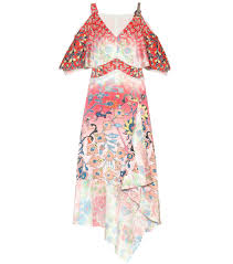 Peter Pilotto Size Chart Floral Stretch Silk Dress