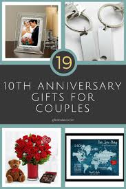 19 great 10th wedding anniversary gift ideas for couples wife husband him her